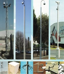 CCTV Columns, Towers, Anti-Vandal Proof Cages, Anti-Climb Spikes, & External Power Supply Boxes
